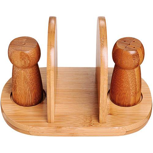 mor-Conjunto de Mesa em Bambu 3 Pçs